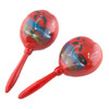 Large Wood Maracas, Real Wood, Fiesta Maracas, Red 9298