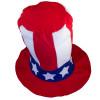 12 PACK Jumbo Patriotic Hat 4th of July Uncle Sam 5925D
