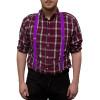 Purple Suspenders Bulk Wholesale Clip On Elastic 12 PACK