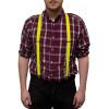 Yellow Suspenders Wholesale Bulk Clip On Elastic 12 PACK 1287D