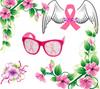 Pink Ribbon Breast Cancer Awareness Pinhole Sunglasses 12 PACK  PR1000