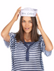 "Customized Sailor Hats | Nautical Party Ideas | 100% Cotton With Your Custom Message Adult Size 22.5"" Standard"