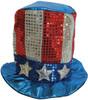 12 PACK Uncle Sam Glitter Top Hat 1355DZ