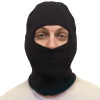 12 PACK Face Mask Black One Hole 3053D