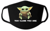 Baby Yoda Face Mask  |  Cotton Face Mask | Adult Double Ply Soft Cotton
