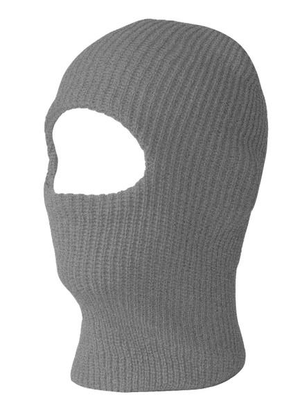 12 PACK Grey One Hole Knit Ski Mask 3068GY