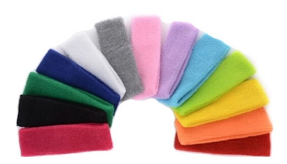 Athletic Headbands Bulk | Terry Cloth Standard Mixed Pack 12 PACK 3069