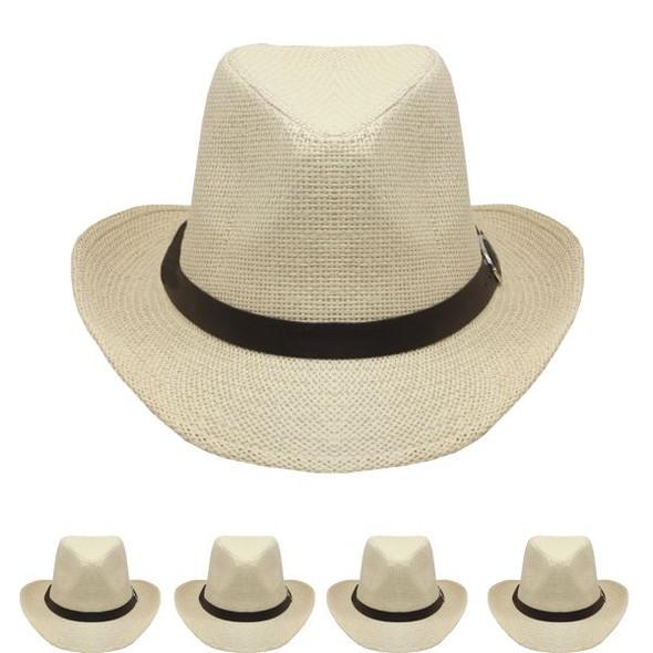 Tan Cowboy Hats Bulk |  Adult 12 PACK 1480T UNISEX
