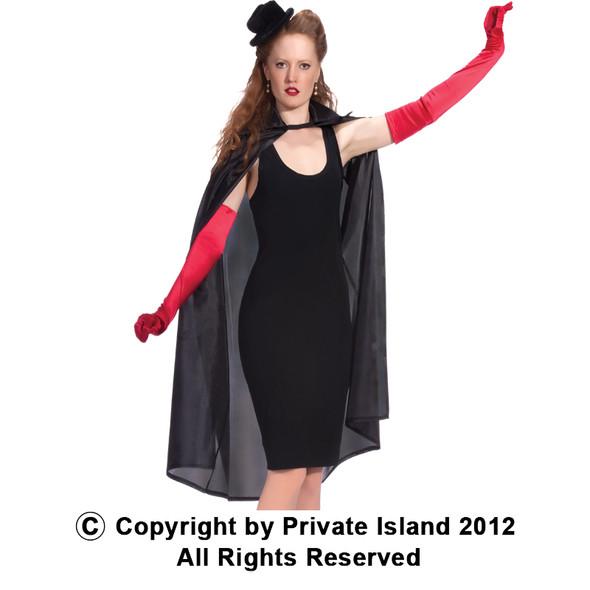 Black Cheap Costume Capes | Black Costume Cape 45' 4524