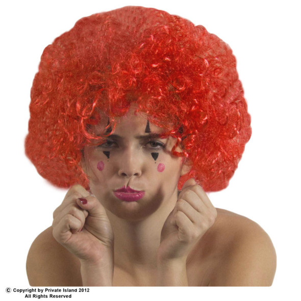 Red Clown Afro Wig 6032