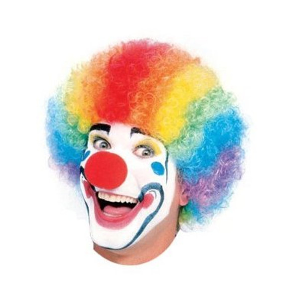 Clown Wig Rainbow Adult 6031