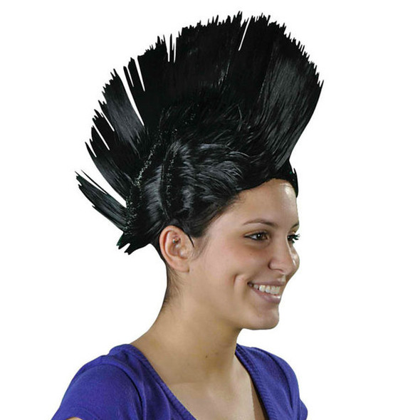 Black Mohawk Wig 6038