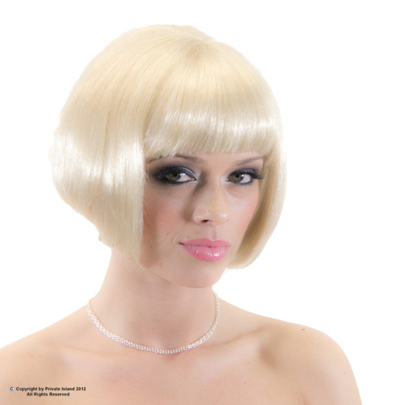 Blonde Bob Wig Short Wig Costume Supermodel  6043