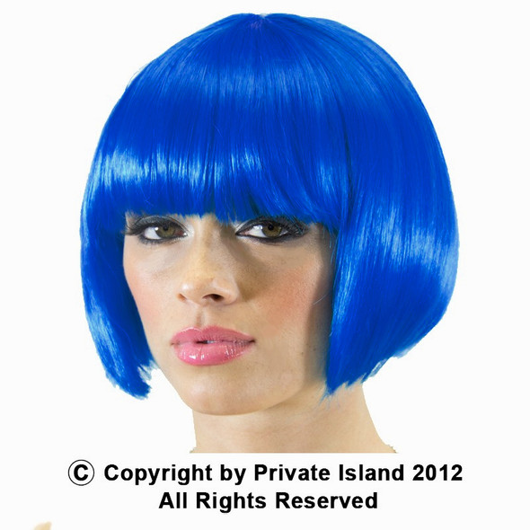 Blue Bob Wig Short Wig Costume Supermodel 6044