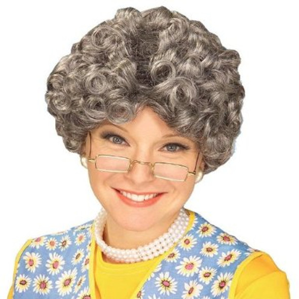 Grandma Wig Halloween | Old Lady Wig | Grey Wig Bulk 6039