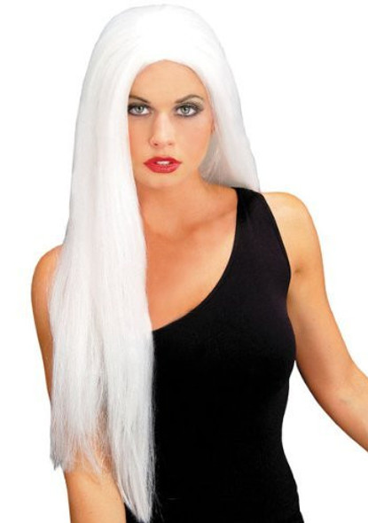 White 24 Inch Wicked Straight Wig 6049