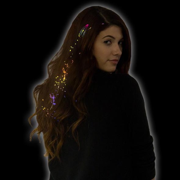 Rainbow Starlight Fiber Optic Hair Extensions 6164