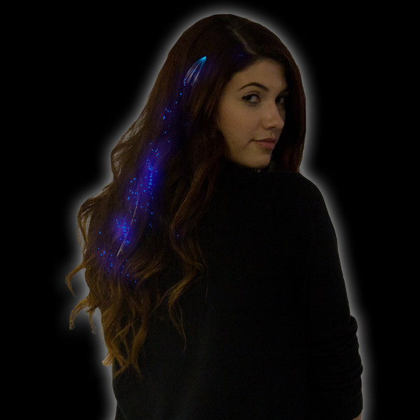Hair Extensions LED Blue Starlight Fiber Optic 6166
