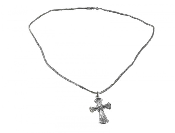 Cross Necklace Metal Chrome 6562