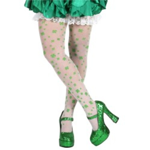 St Patricks Irish Shamrock Child Tights 8008