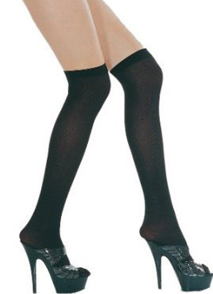 Black Sheer Thigh High Stockings 12 PACK 8021