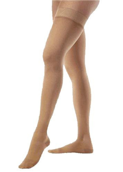 Beige Sheer Thigh High Stockings 12 PACK 8023