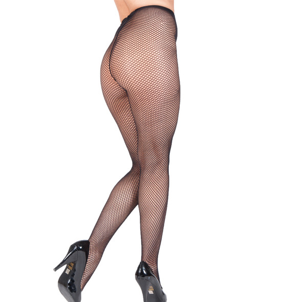 Black Fishnet Pantyhose 8040