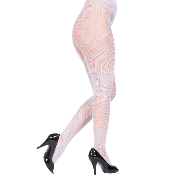 Fishnet Pantyhose White 8041