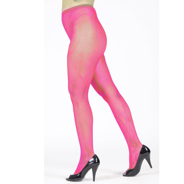 Hot Pink Fishnet Pantyhose 8043