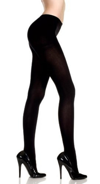 Super Control Top Opaque Black Tights 12 PACK