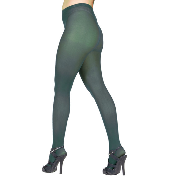 Super Control Top Dark Green Tights Opaque 12 PACK 8060D