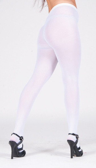 Super Control Top White Tights Opaque 12 PACK 8065