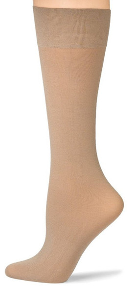 Beige Opaque Knee Highs 8104