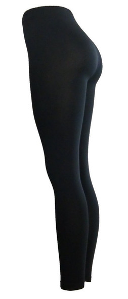 Black Footless Tights  8091