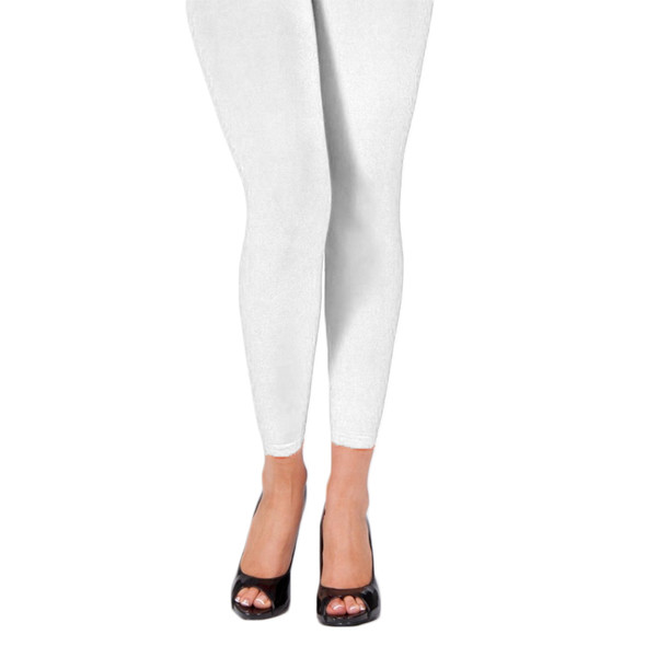 White Footless Leggings 8092