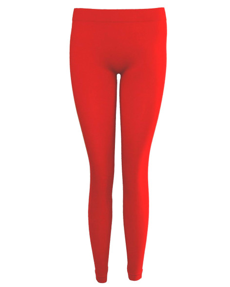 Red Footless Leggings 8093