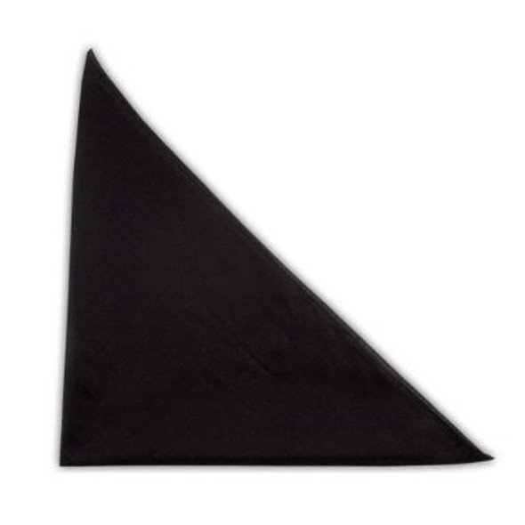 "Solid Black Bandanna 22"" Square Standard 100% Cotton 12 PACK 1935"