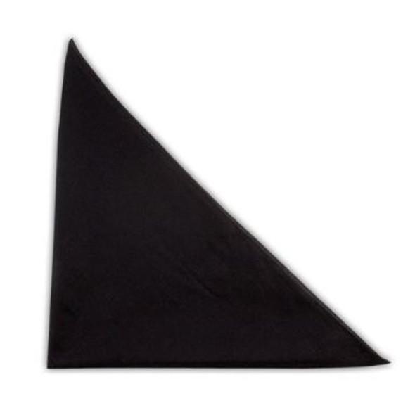 "Solid Black Bandanna 22"" Square Standard 100% Cotton 12 PACK 1935"