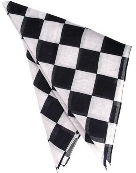 Black and White Checkered Bandanna 12PK 1965
