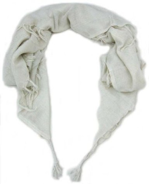 Solid White Arab Shemagh Scarf 2084