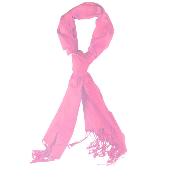 Hot Pink Pashmina Shawl 100% Fine Wool Mix 12 PACK 2104
