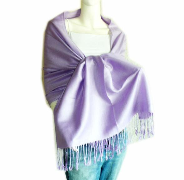 Lavender Pashmina Shawl 100% Fine Wool Mix 12 PACK 2106