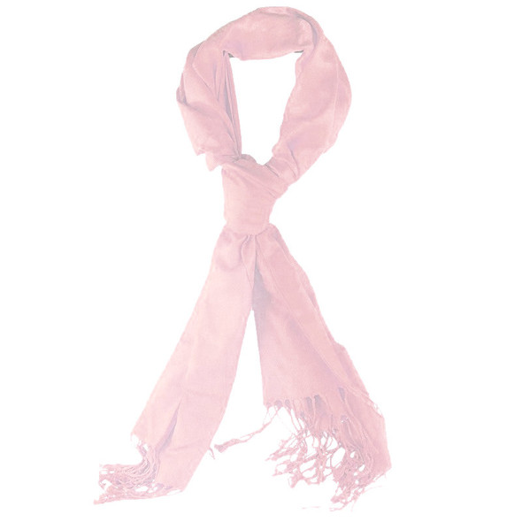 Light Pink Pashmina Shawl 100% Fine Wool Mix 12 PACK 2107