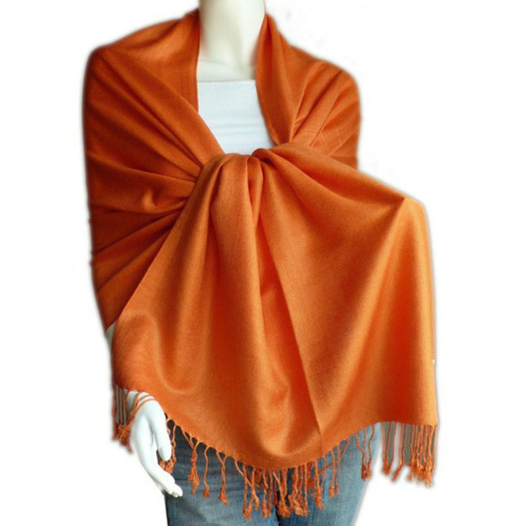 Orange Pashmina Shawl 12 PACK 2109