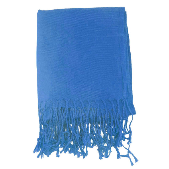 Royal Blue Pashmina Shawl 100% Fine Wool Mix 12 PACK 2112