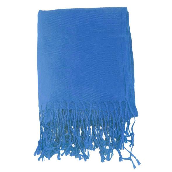 Royal Blue Pashmina Shawl 100% Fine Wool Mix 12 PACK 2112