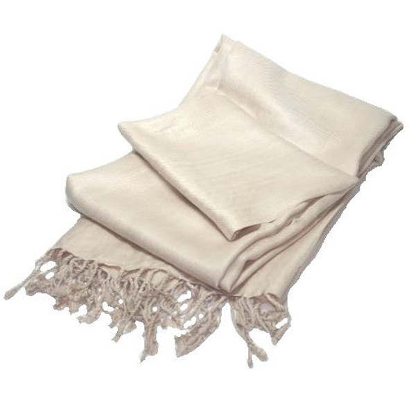 Pashmina Shawl Tan 100% Fine Wool Mix  12 PACK 2114