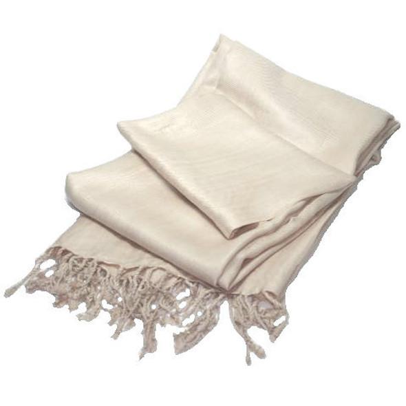 Pashmina Shawl Tan 100% Fine Wool Mix  12 PACK 2114