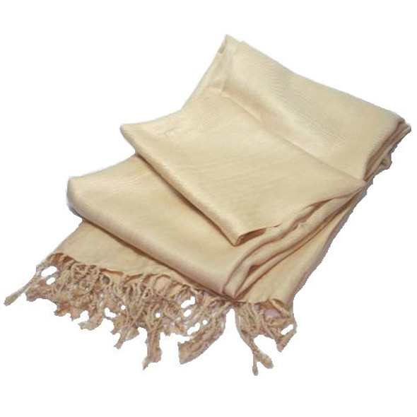 Beige Pashmina Shawl 100% Fine Wool Mix 12 PACK 2118