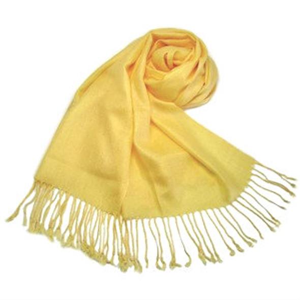 Yellow Pashmina Shawl 100% Fine Wool Mix 12 PACK 2120